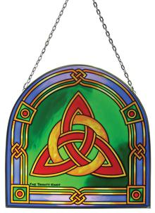 Trinity Knot Stained Glass Suncatcher