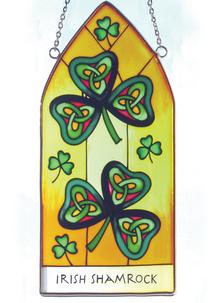 Irish Shamrock Suncatcher