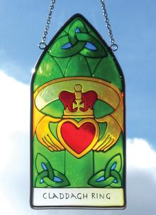 Claddagh Ring Gothic Suncatcher