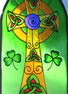 Celtic High Cross Suncatcher