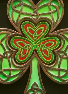 Celtic Thread Shamrock Plaque