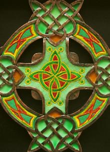 Celtic Threads Celtic Cross Plaque