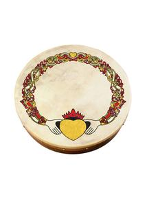 Claddagh Design 12'' Bodhran Set