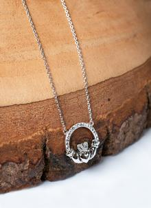 Claddagh Pendant Encrusted With Swarovski Crystals