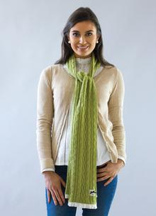 Classic Cable Apple Knit Scarf