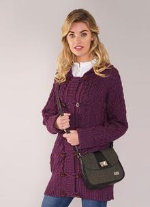 Sarah Small Bag Green Highland Tweed