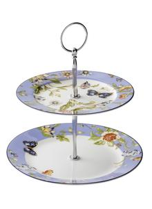 Cottage Garden Two-Tier Cake Stand
