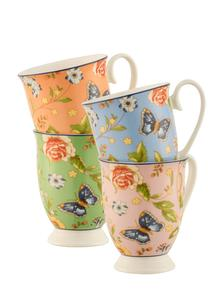 Cottage Garden Footed Mugs