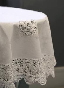 Cotton and Lace Tablecloth