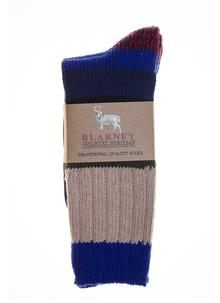 Cotton Blend Stripe Socks