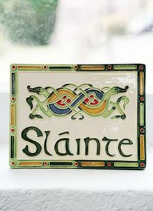 Slainte Ceramic Wall Plaque - Kells Range