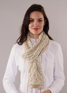 Finola Cotton Linen Scarf Natural