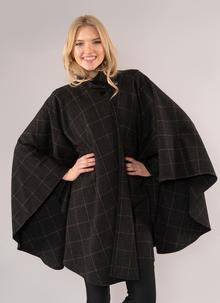 Jimmy Hourihan Charcoal Tweed Cape