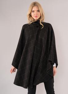Charcoal Tweed Cape