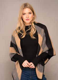 Jimmy Hourihan Blanket Scarf - Black, Camel & Grey