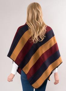 Jimmy Hourihan Blanket Scarf - Camel, Navy & Burgundy