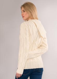 Anita Aran Side Shawl Collar Sweater