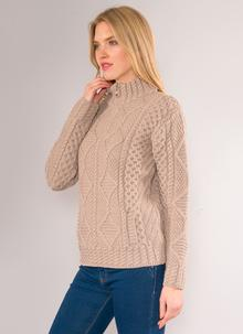 Lucy Half-Zip Aran Sweater