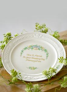 Belleek Personalized Wedding Plate