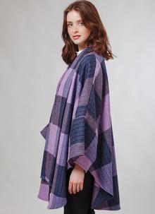 Donegal Tweed Scarf Cape Pink