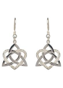 Silver Heart of a Celt Earrings