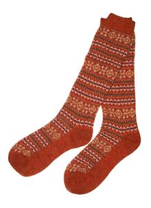 Ladies Knee High Fairisle Socks