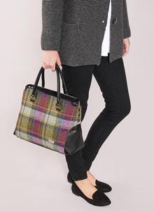 Emily Handbag Green Tartan Tweed