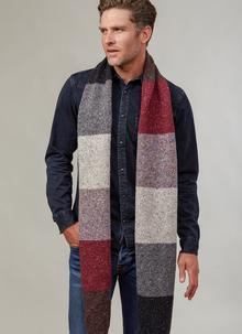 Fisherman Color Block Scarf Wildberry