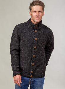 Fisherman Donegal Fleck Button Cardigan