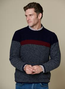 Fisherman Seed Stitch Roll Neck Sweater