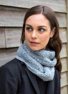 Fisherman Snood With Cashmere Blue Smoke