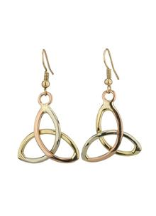 3 Color Trinity Knot Drop Earrings