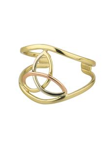 3 Color Celtic Trinity Knot Bangle