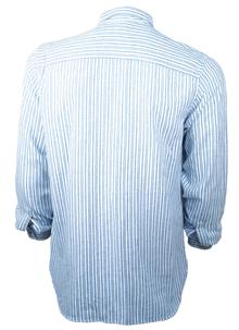 Collared Grandfather Striped Shirt
