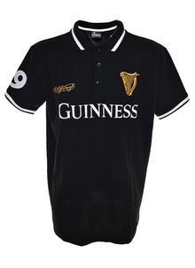 Guinness 59 Black & White Stripe Collar Polo