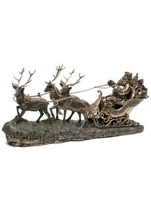 Santa on Sleigh Figurine