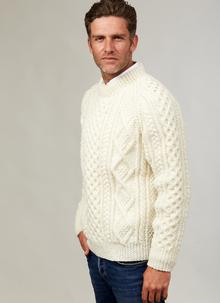 Hand-Knit Donncha Crew Sweater