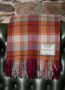 Hunting Tower Check Lambswool Throw