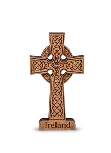 Irish Oak High Cross Ornament