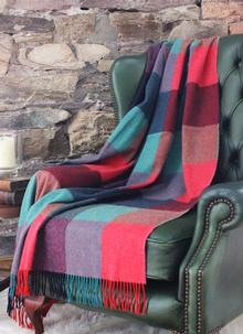 Blarney Jewel Colored Lambswool Throw