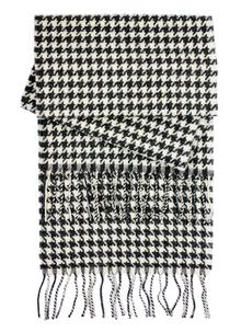 Lambswool Houndstooth Scarf