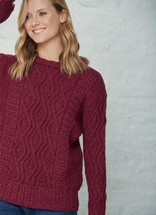 Ide Aran Crew Neck Sweater