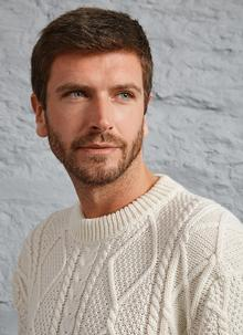 Jamie Crew Neck Aran Sweater