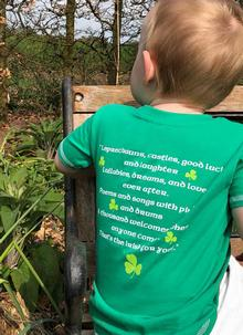 Kids Irish Blessing Shamrock T-Shirt