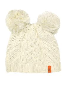 Kid's Cream Knitted Bobble Hat