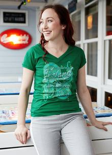 Ladies Ireland Celtic Traditions V-Neck T-Shirt