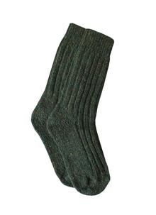 Ladies Wool Socks Natural Turquoise Green