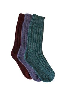 Ladies Wool Socks Lilac Turquoise Red