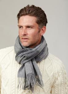 Lambswool Scarf Grey Check