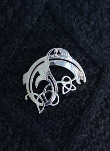 Large Salmon Of Knowledge Brooch